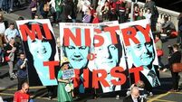 Thousands march in protest against water charges
