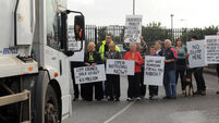 'We will not tolerate this' Northside residents protest at city waste depot