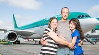 Aer Lingus 'arrival' reunited with crew who delivered him