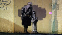 QUIRKY WORLD... Banksy art vandalised after just two weeks