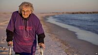 QUIRKY WORLD ... Life's a beach as centenarian finally gets trip to the sands