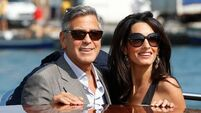 Canal cruise for the Clooneys