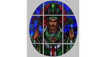 Stained glass work by Harry Clarke carries African history