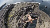 Cliff diving is becoming a popular sport on Inis Mór