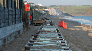 Efforts to restore storm-hit Youghal boardwalk under way