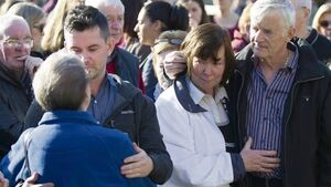 VIDEO: Piper's lament and a tearful tribute to Karen Buckley