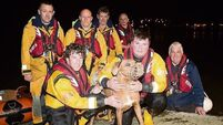 Courtmacsherry lifeboat crew's busy day closes with dog rescue