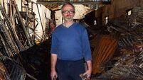 Stained-glass artist Peadar Lamb loses life's work in blaze