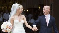 Rugby star Peter Stringer gives bride a wedding worth waiting for