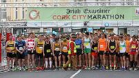 VIDEO: Almost 50,000 braved the elements to run in Cork and Dublin marathons