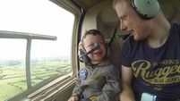 This five-year-old's first helicopter ride is exactly what you need to watch today