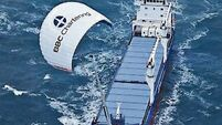 Naval vessels fly a kite for energy efficiency