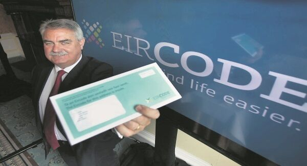 Eircode business development officer Liam Duggan during the launch of the new system at the Shelbourne Hotel, Dublin