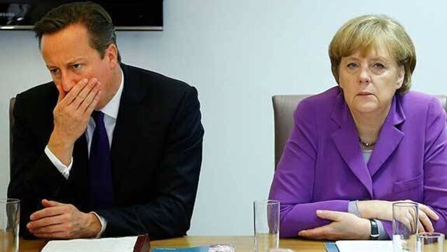 Merkel strikes conciliatory tone in UK talks
