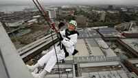 QUIRKY WORLD ... 101-year-old woman falls hard for abseiling