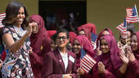 First Lady inspires schoolgirls