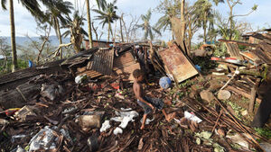 Cyclone was monster, says Vanuatu's president