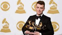 Sam Smith wins four gongs, thanks his ex for heartbreak inspiration