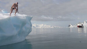Icy plunge for Antarctic conservation