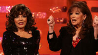 Joan Collins pays tribute to her late 'brave baby sister'