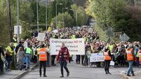 Thousands gather in Oughterard silent protest over proposed direct provision centre