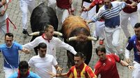 Watch as Pamplona running of the bulls comes to an end