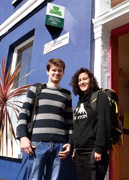 avid Matokic from Croatia and Sabrina Serra from the USA, pictured at Sheila's Hostel, Belgrave Square, Wellington Road Cork.From Friday next, April 8th Sheila's Hostel will be the new An Óige hostel in Cork following the closure of their current hostel on Western Road which has been in operation since 1958.(Pic: Siobhan Russell)