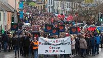 Thousands protest over Waterford hospital services