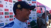 Nicolas Roche recovers from heavy fall