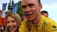 Nicolas Roche revels in Chris Froome win