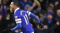 Everton 0 West Brom 0: Kevin Mirallas miss proves costly as Everton's misery continues