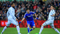 Costa faces ban threat for 'stamp'