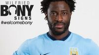 Wilfried Bony looking forward to 'great challenge' at Man City