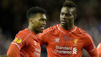 Mario Balotelli on the spot to give Liverpool narrow lead