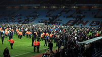 Pitch invasion was very, very scary, says Delph