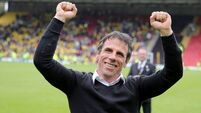 Zola axed after less than three months in Cagliari hot-seat