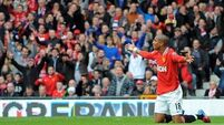 Ashley Young rising from the diver image