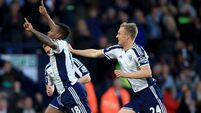 West Brom deflate 10-man Chelsea