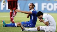 Blow for Juventus as Giorgio Chiellini to miss showdown with Luis Suarez