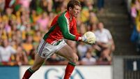 Mayo goalkeeper David Clarke recovers to face Dublin