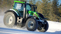 Valtra, Nokian combine for tractor speed record