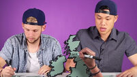 VIDEO: Americans try to find Ireland on a map (of Ireland and Britain)