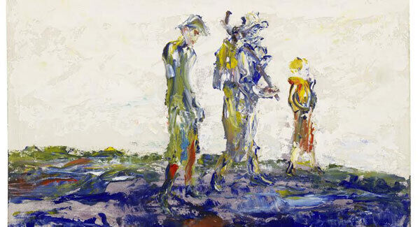 Single File by Jack Butler Yeats is included in Bonham's sale of Modern British and Irish Art in London next Wednesday (£30,000-£50,000).