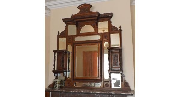 An overmantle mirror from the Hodnett Forde sale in Belgooly next Saturday.