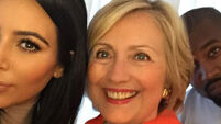 Kim Kardashian took a selfie with Hillary Clinton and the internet loved it