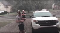 VIDEO: Toddler experiences rain for the first time - loves every minute of it