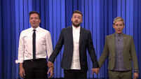 Jimmy Fallon, Ellen DeGeneres and Justin Timberlake put together a showstopping performance