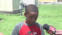 VIDEO: 10-year-old saves two small children from burning home