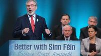 Gerry Adams uses ard fheis speech to criticise Micheál Martin and Fianna Fáil