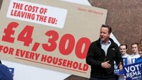Brexit goes beyond economics to threaten David Cameron